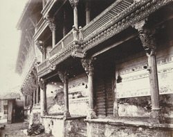 Wood carving on the front of the Dwarkanath Temple, Ahmadabad
